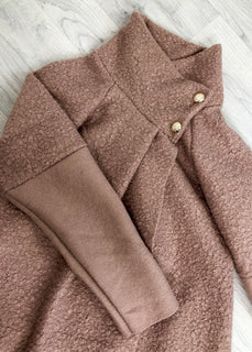 Olive Pleat Detail Wrap Jacket - Pink