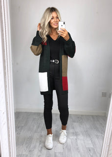 Urban Bliss - Emmy Colour Block Cardigan