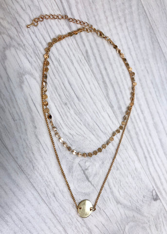 Memphis Gold Necklace - Short
