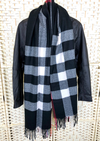 Nevada Scarf - Black Check