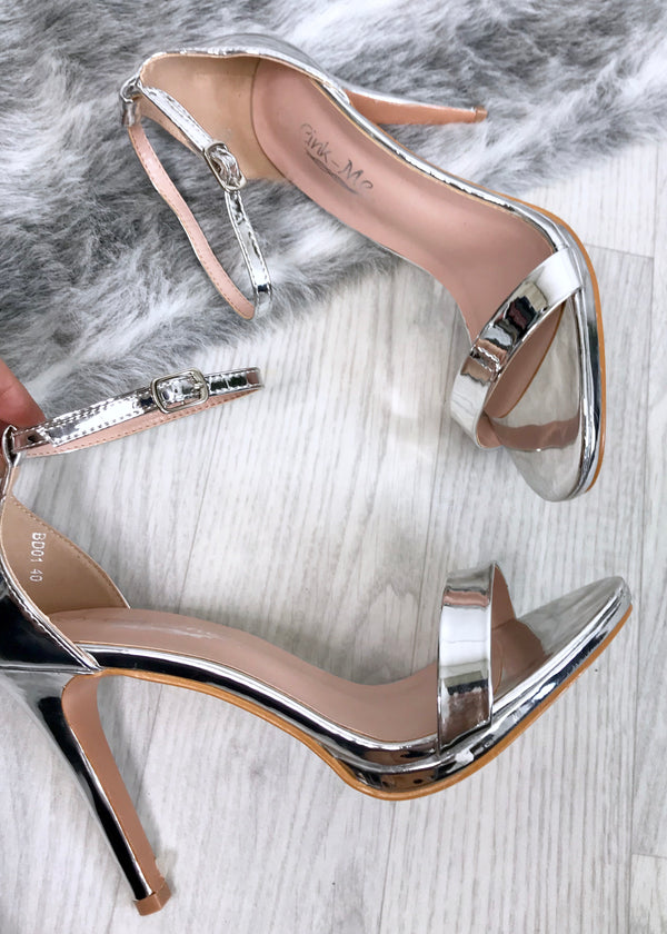 Carla Barely There Heels - Silver