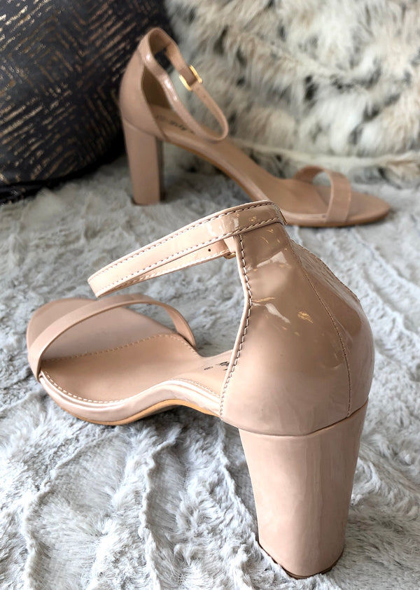Gia Barely There Sandals - Nude