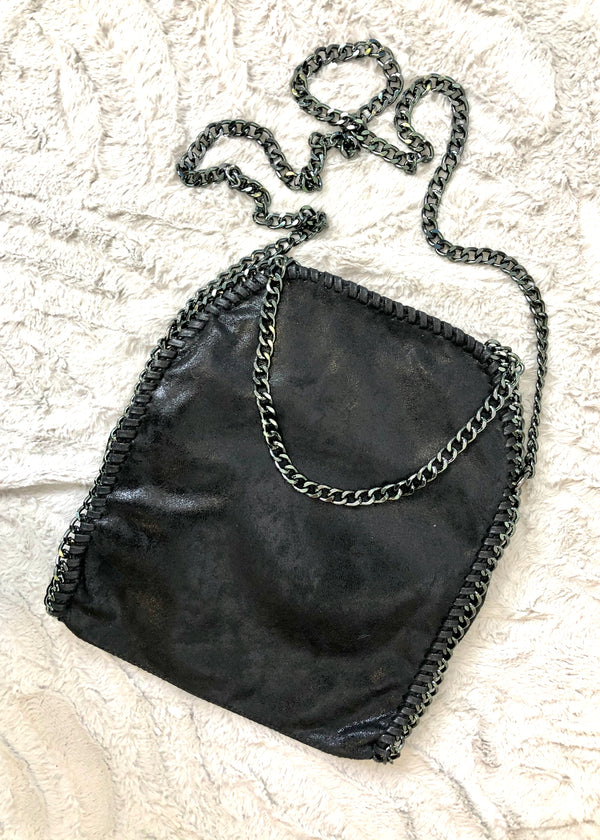 Milan Black Chain Bag - Medium