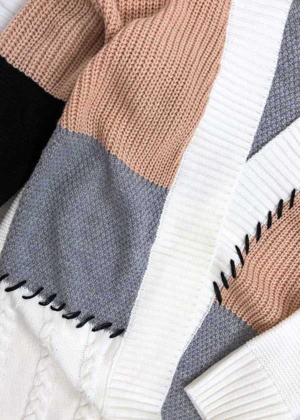 Chloe Colour Block Cardigan