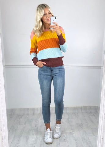 ICHI Ribbed Stripe Jumper