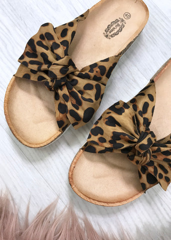 Ingrid Leopard Sliders
