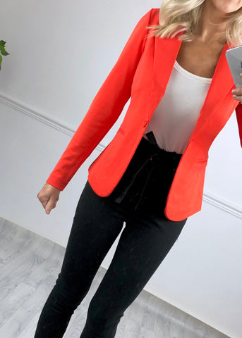 ICHI Poinciana Orange blazer
