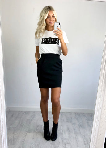 Black High-Waist Skirt