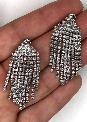 Diamante Waterfall Earrings
