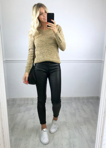 Alena Knitted Jumper - Beige