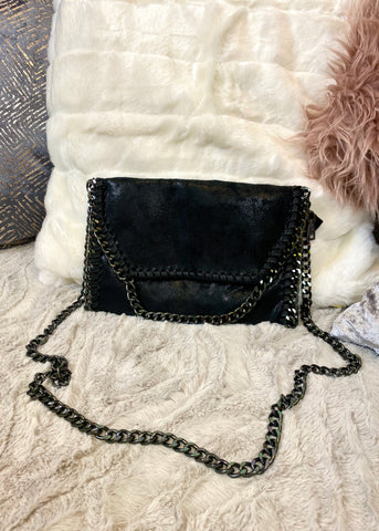 Milan Black Chain Bag -  Small
