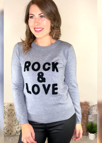 Rock and Love Jumper - Grey