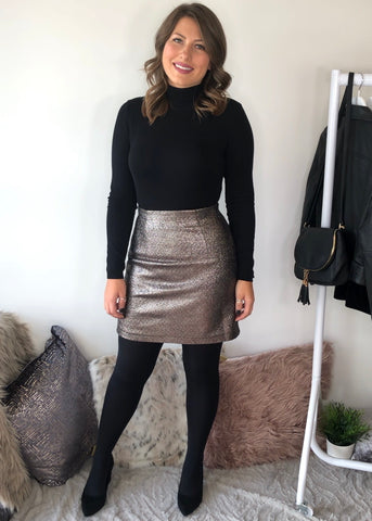Madelynn Sparkle Mini Skirt - Grey