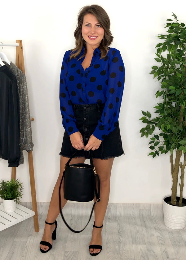 Duffy Blue Spot Blouse