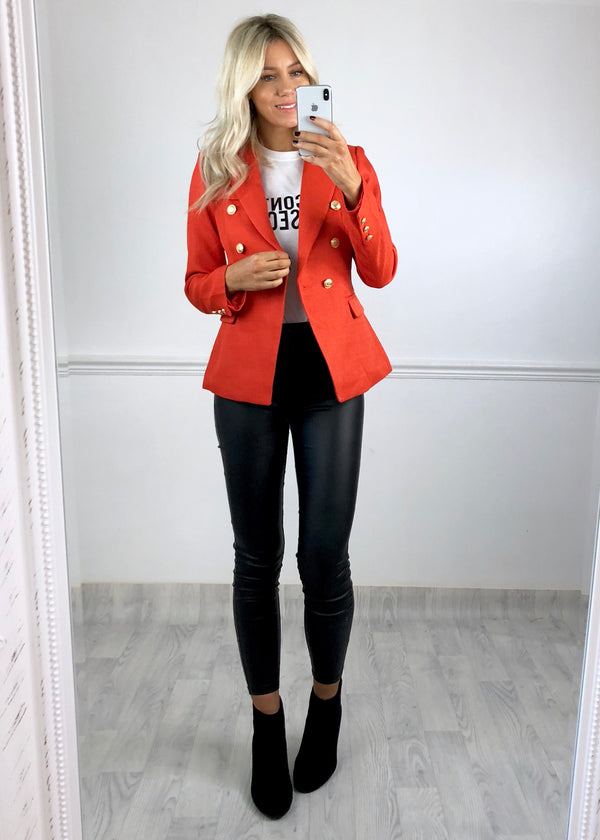 Sadie Tweed Blazer - Orange