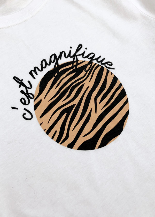 Tan Zebra T-shirt