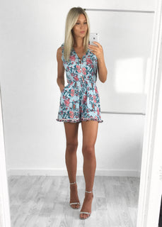 Jessica Floral Print Frill Playsuit