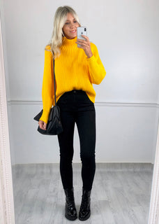 Daisy Chunky Knit Jumper - Yellow