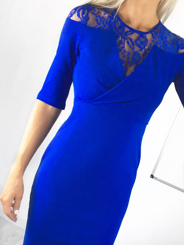 Harriet Lace Insert Pencil Dress