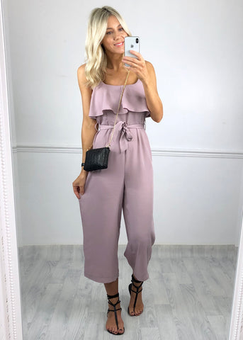 Halo Frill Jumpsuit - Lilac