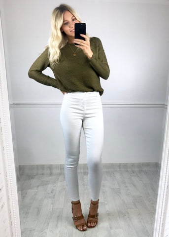 Keeley Knitted Jumper - Khaki