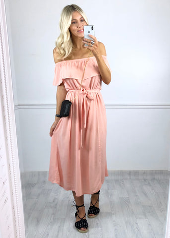 Ichi Marrakech Dress - Peach