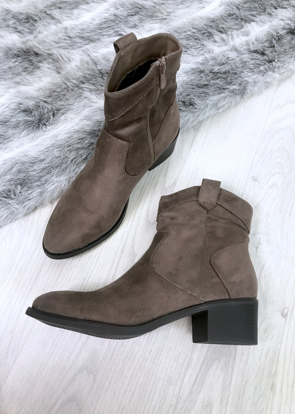 Kia Stone Slouch Ankle Boots