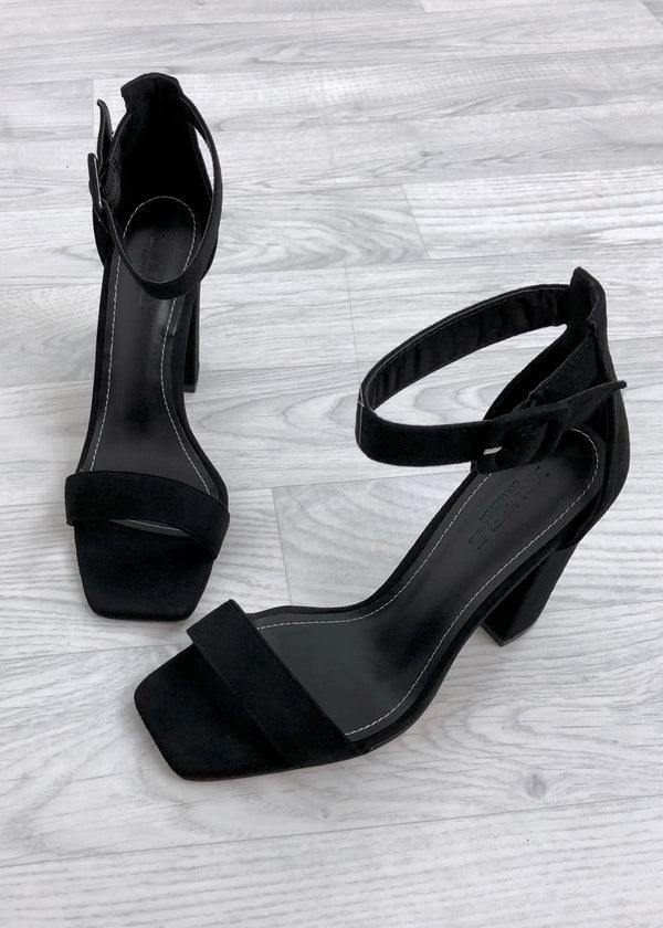 Nia Block Heel Sandals - Black