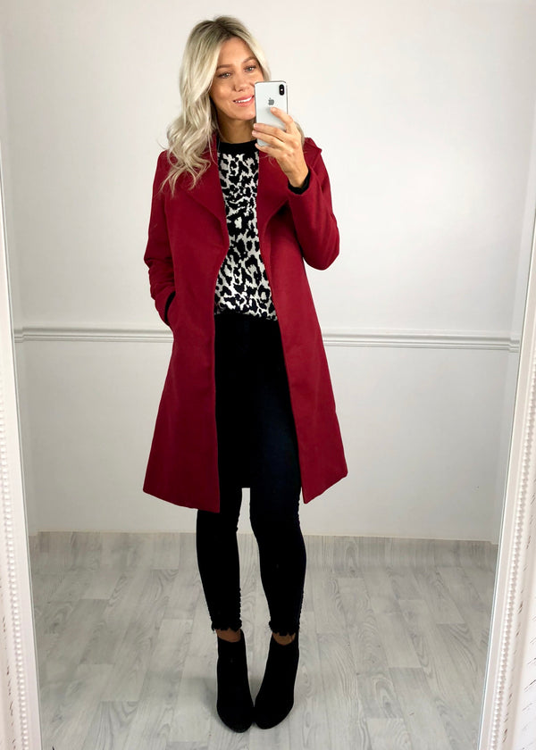 Victoria Duster Coat - Wine
