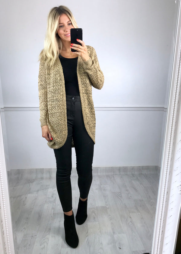 Cassidy Knitted Cardigan - Beige