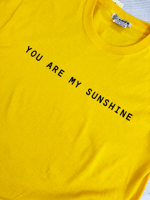 'You Are My Sunshine' Slogan T-Shirt - Yellow