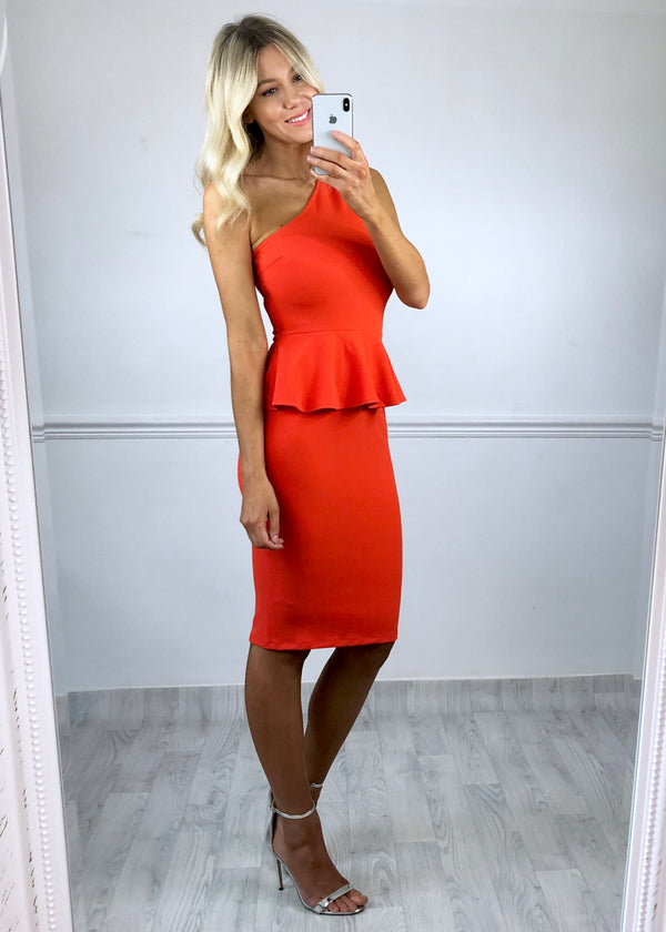 Annabelle Peplum dress - Orange