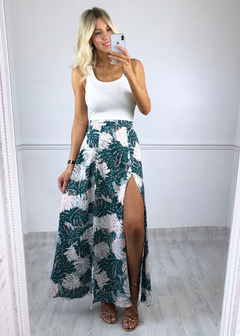 Milan Tropical Print Maxi Skirt