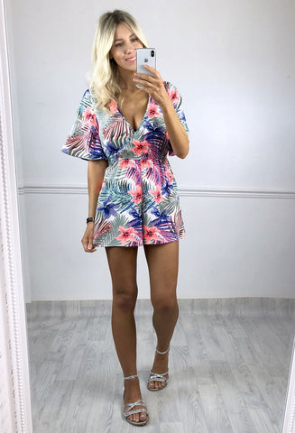 Ria Tropical Print Playsuit