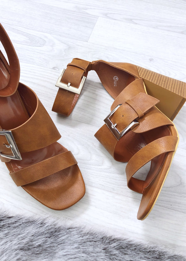 Fallon Block Heels - Tan