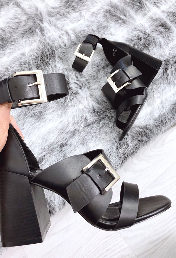 Fallon Block Heels - Black