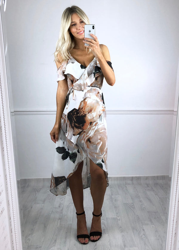 Dawn Floral Asymmetric Dress