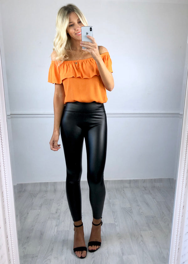 Ivy Orange Bardot Top