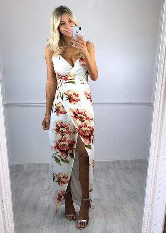 Esme Floral Wrap Maxi Dress