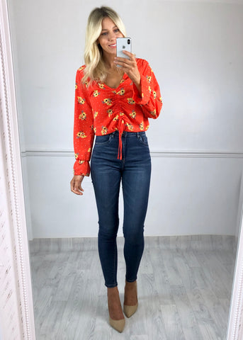 Kaya Orange Floral Top