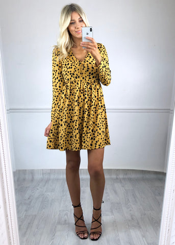 Lesley Dalmation Print Smock Dress