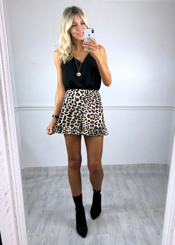 Nirvana Leopard Print High Waist Shorts