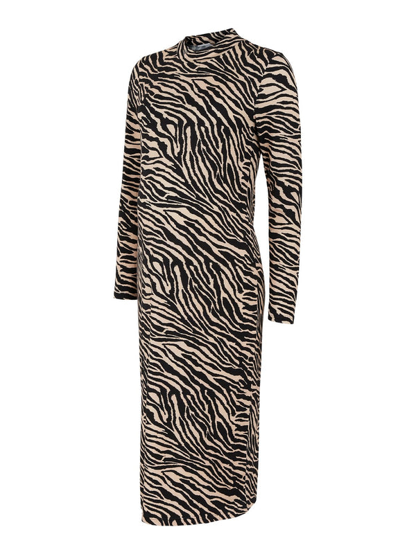 Mamalicious Saidy Animal Print Midi Dress