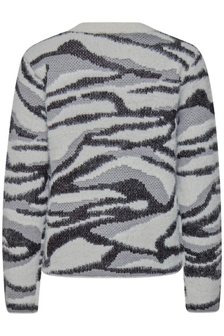 b.young Nolle Animal Print Jumper