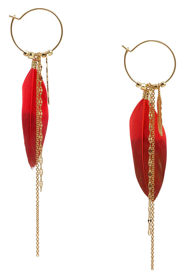 Nümph Coral Feather Earrings