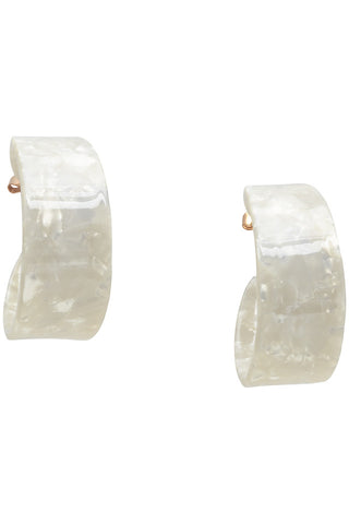 Nümph Tortoiseshell Earrings - White