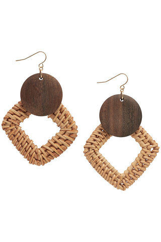 Nümph Square Wicker Earrings