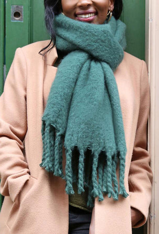 Lisa Angel Recycled Oversized Scarf - Green