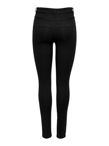 ONLY Royal High Waisted Skinny Jeans Black - 30""