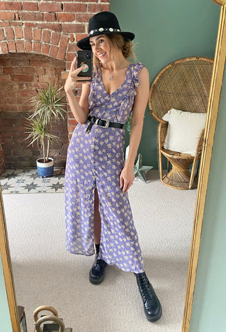 Brave Soul Zoey Button Through Maxi Dress